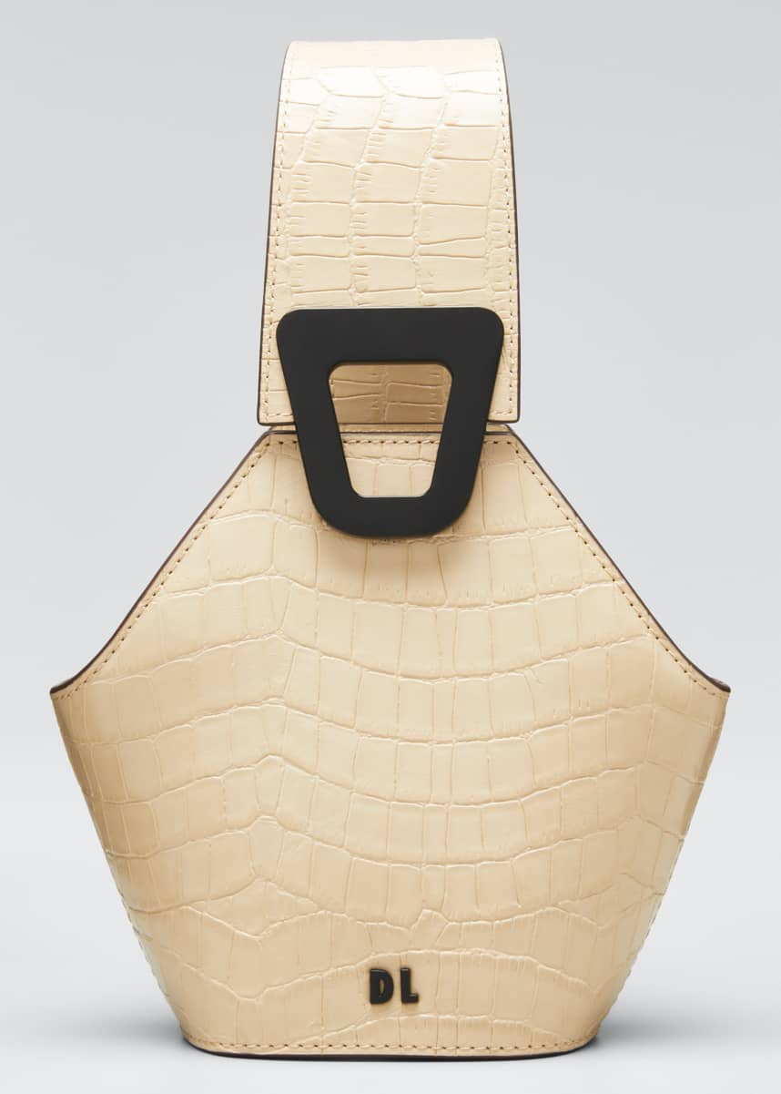 Danse Lente Johnny Mock-Croc Leather Hexagon Mini Shoulder Bag