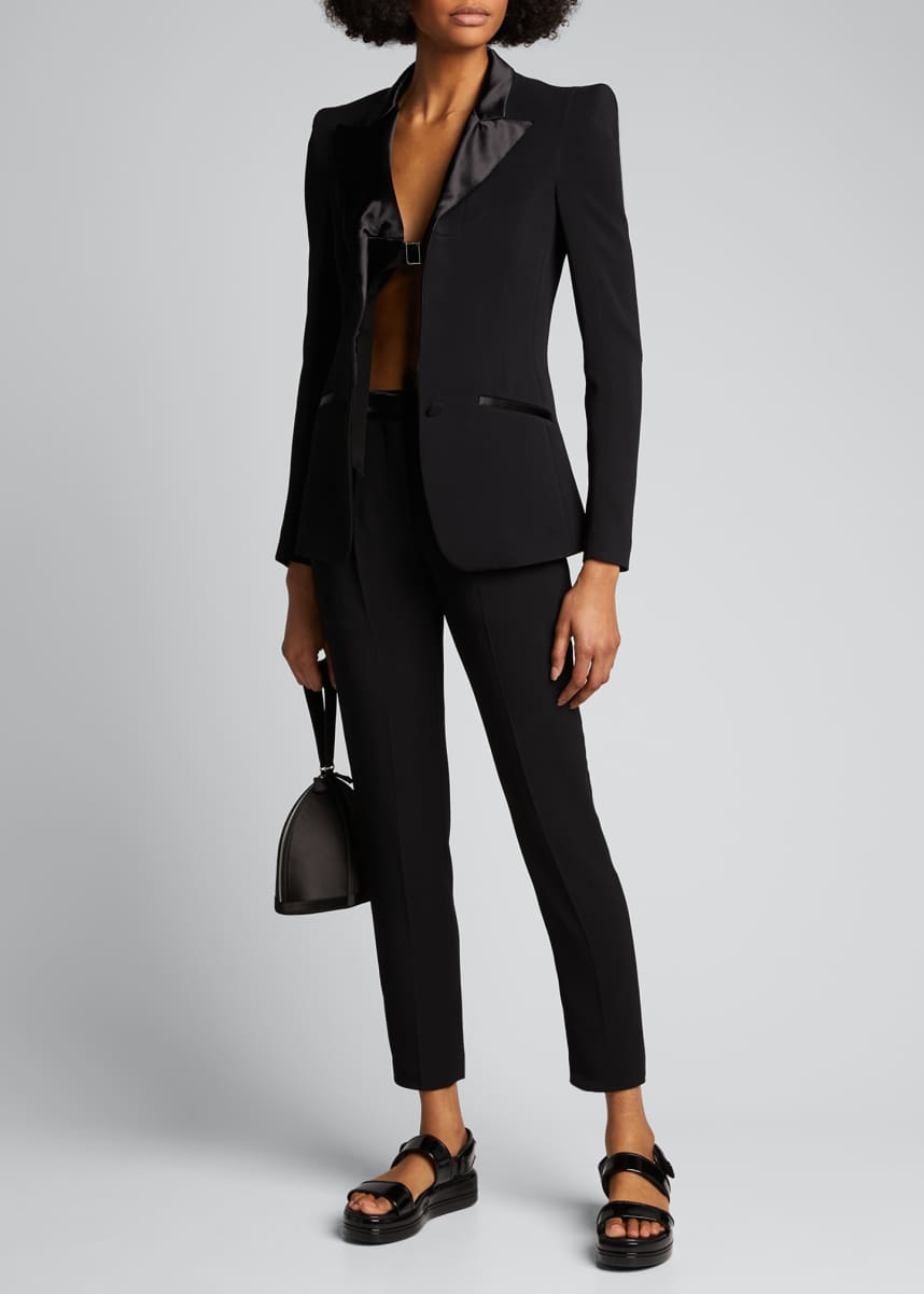 Olivier Theyskens Ribbon-Tied Tailored Jacket