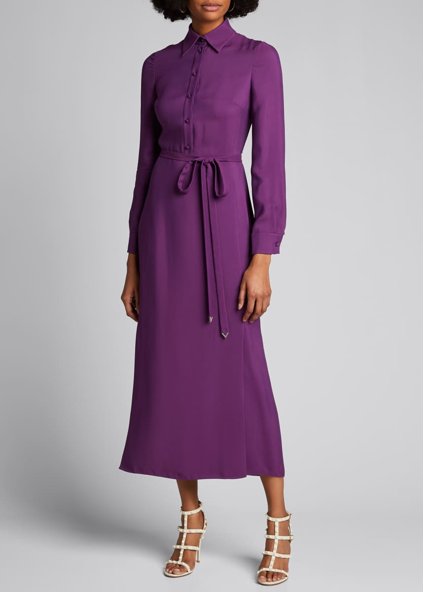 Valentino Jersey Maxi Shirtdress