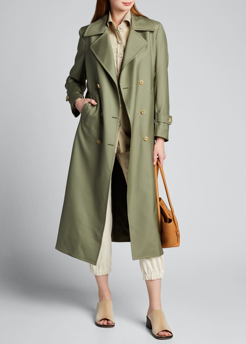 Giuliva Heritage Collection Tailored Double-Breasted Trench Coat