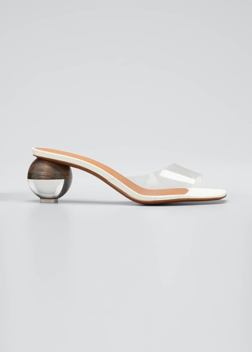 Neous Opus 55mm Ball-Heel Leather Sandals