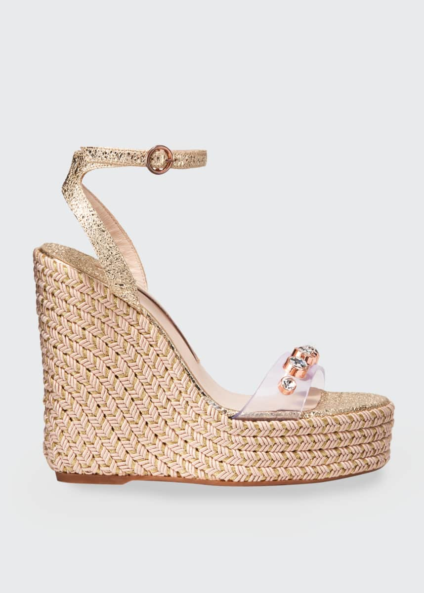 Sophia Webster Dina Gem Crackle Espadrille Sandals