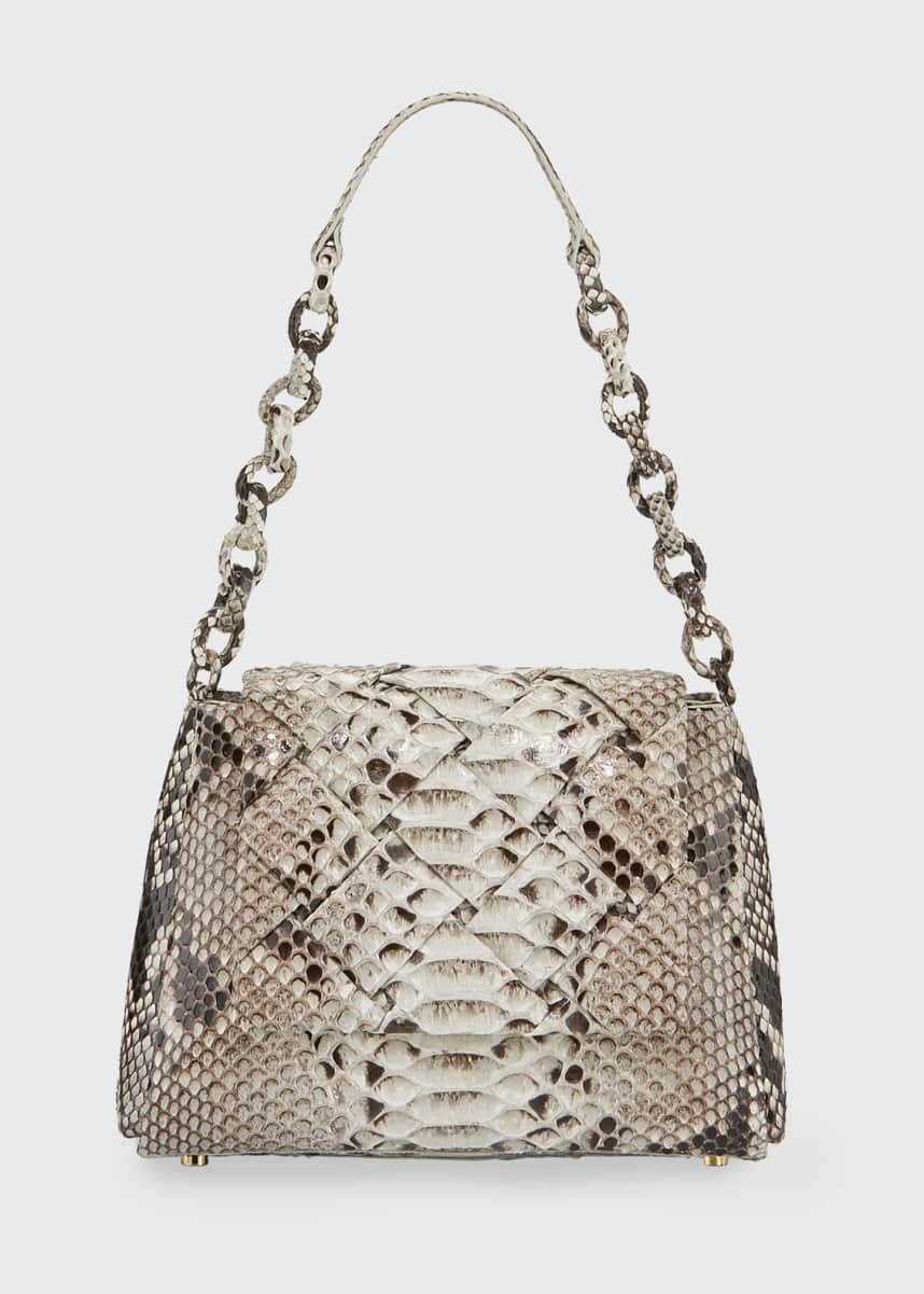 Nancy Gonzalez Medium Flap Shoulder Bag With Weave