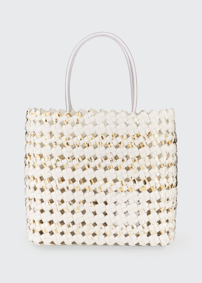 Nancy Gonzalez Large Python Woven Tote Bag