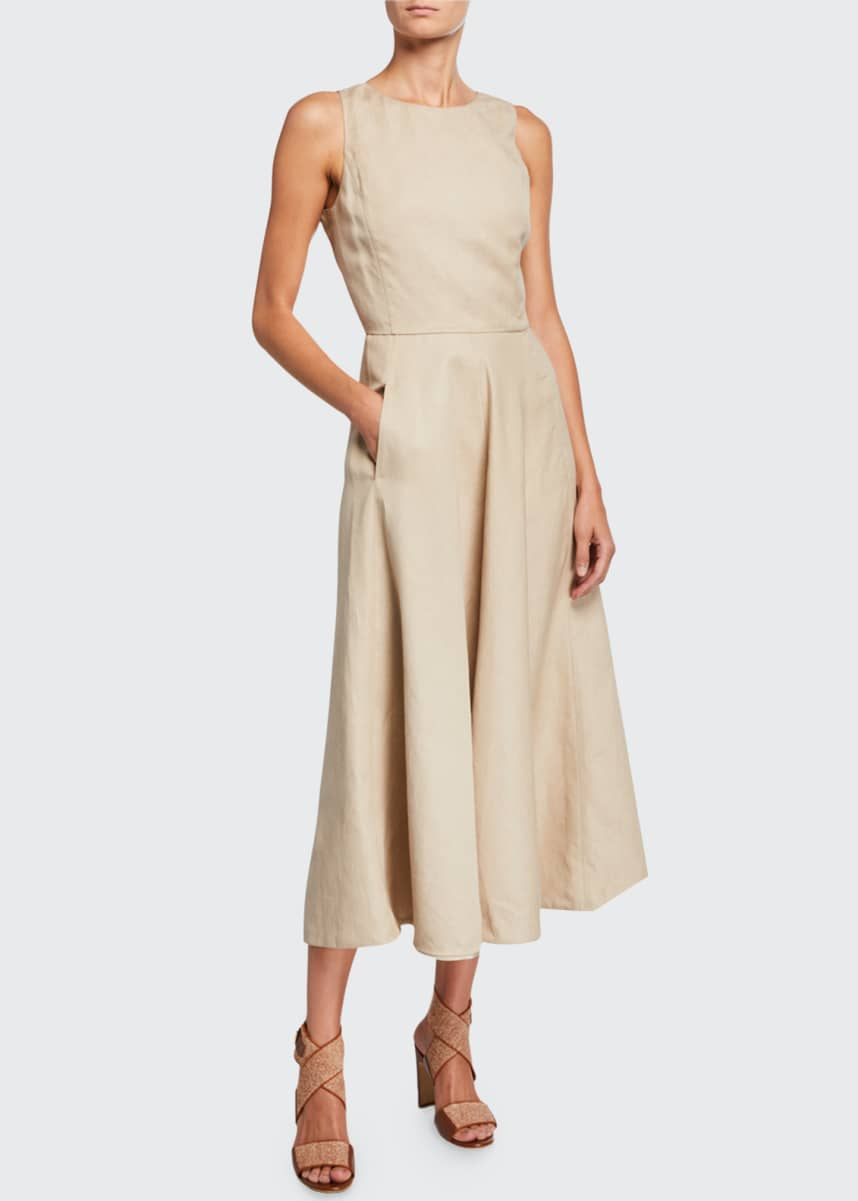 Loro Piana Nancy Linen A-Line Dress