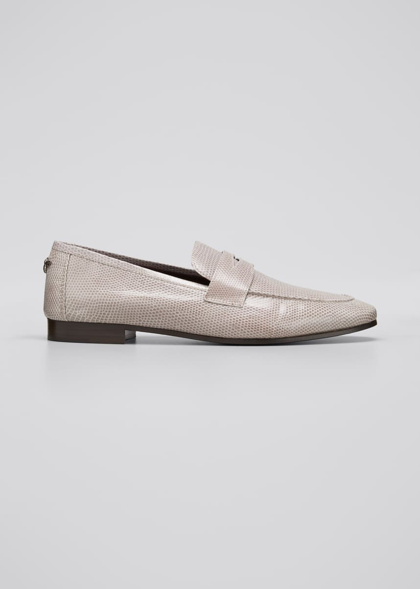 Bougeotte Flaneur Lizard Penny Loafers