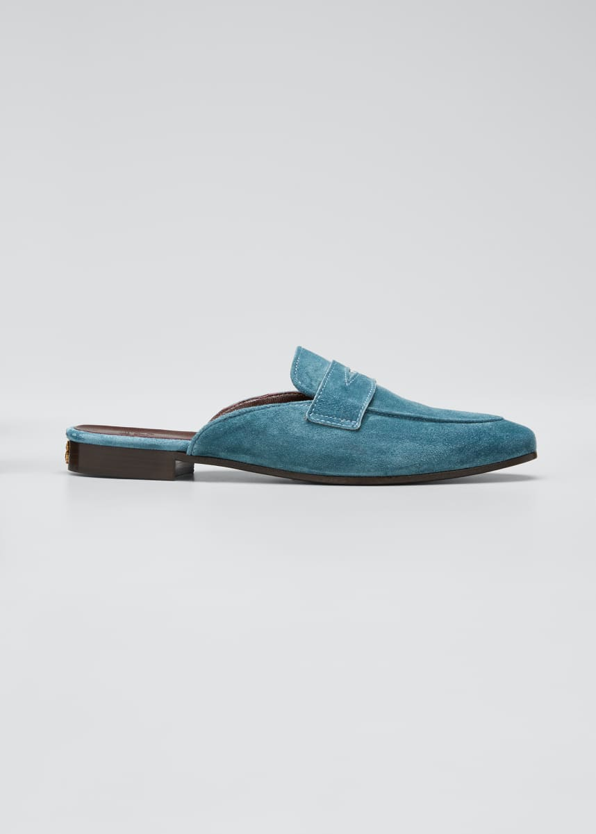 Bougeotte Suede Penny Loafer Mule Loafers