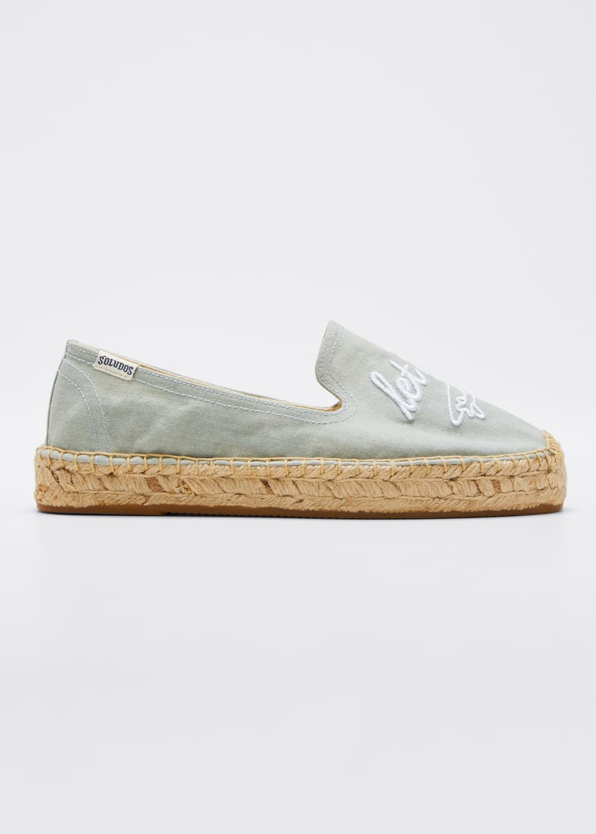 Soludos Let's Fly Away Espadrille Flatform Slippers