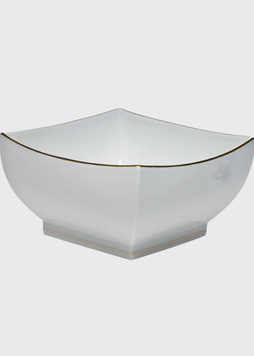 Herend Golden Edge Large Square Bowl