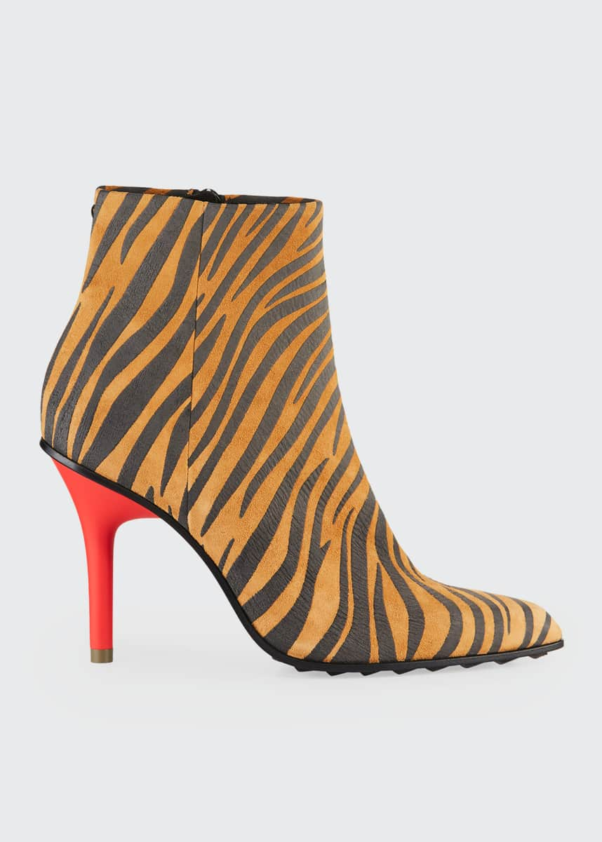 Rag & Bone Waylon Zebra-Print Leather Booties