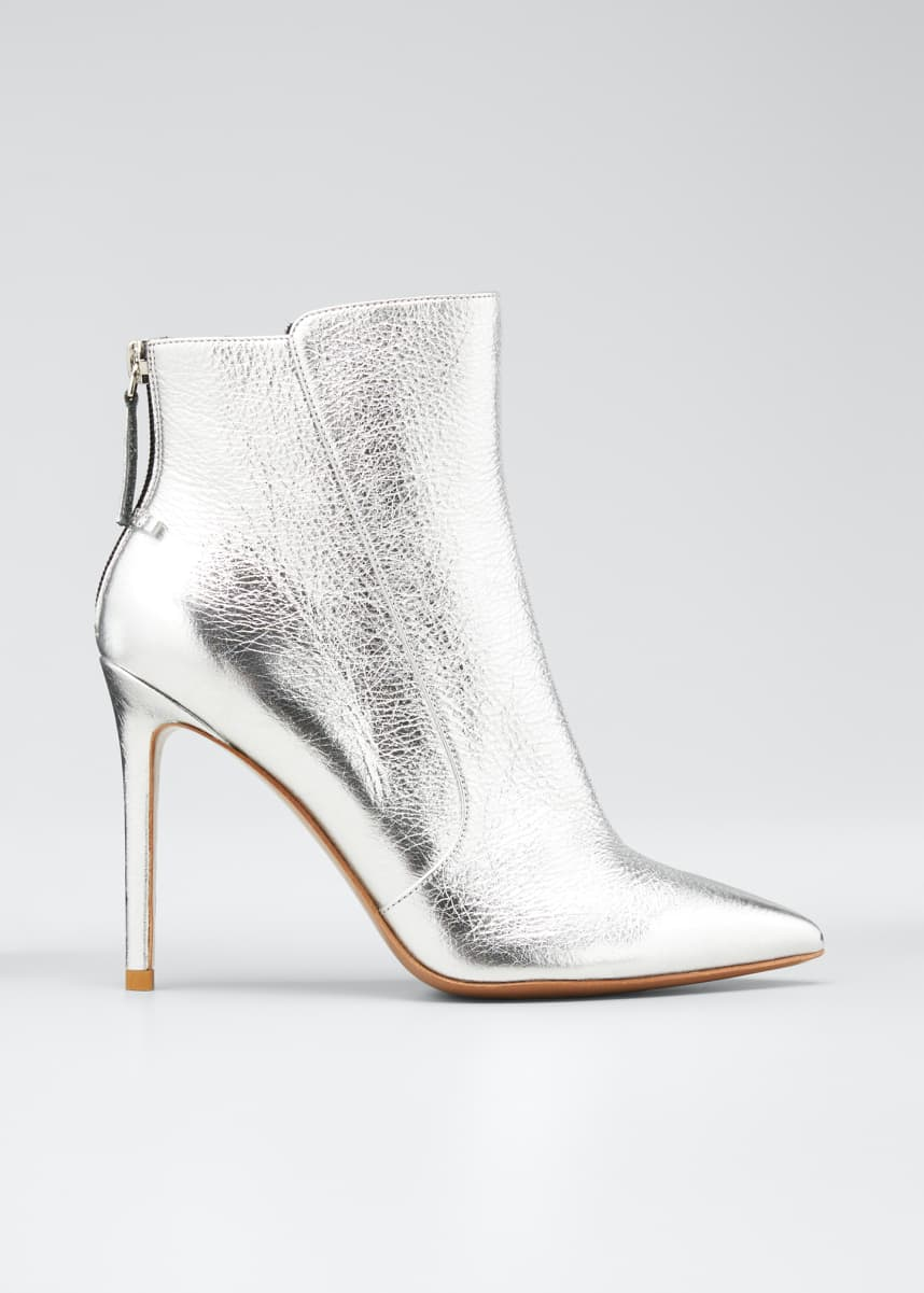Veronica Beard Jovanna Metallic Leather Stiletto Booties