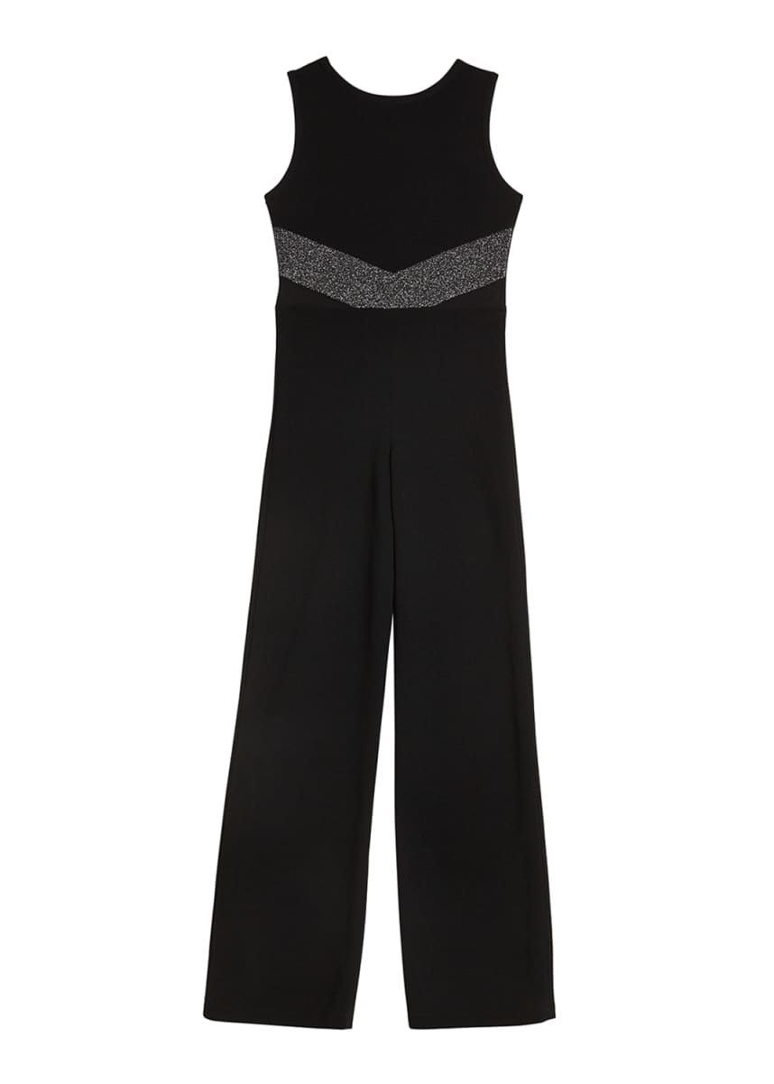 Sally Miller Girl's The Allie Crepe Lurex Trim Jumpsuit, Size S-XL