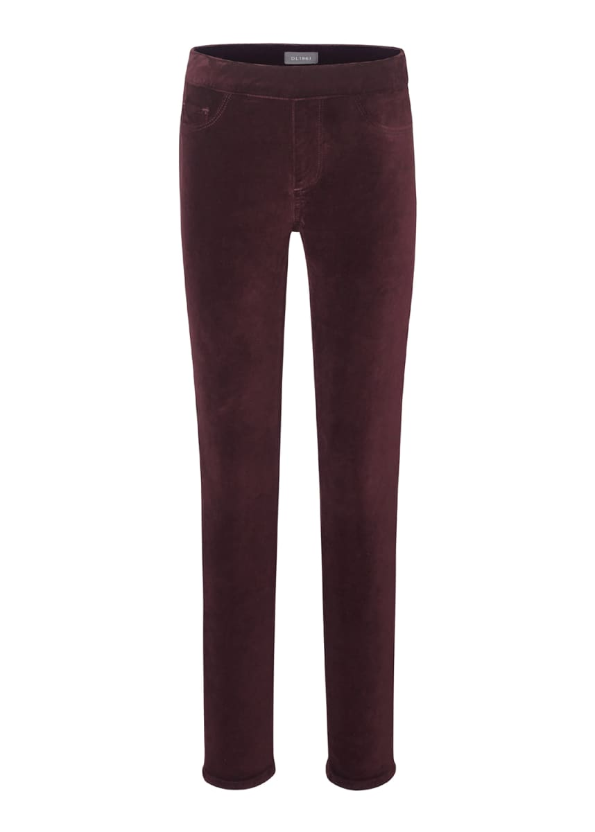 DL1961 Premium Denim Girl's Candy Velvet Leggings, Size 7-16