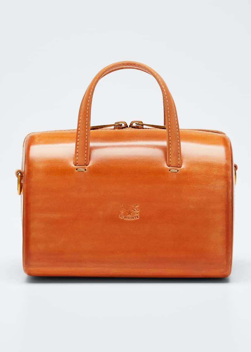 Il Bisonte Structured Leather Satchel Bag