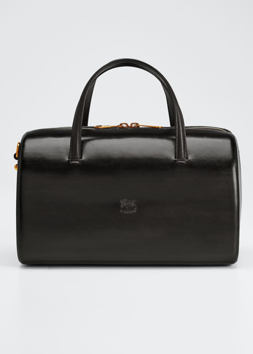 Il Bisonte Structured Leather Duffle Satchel Bag