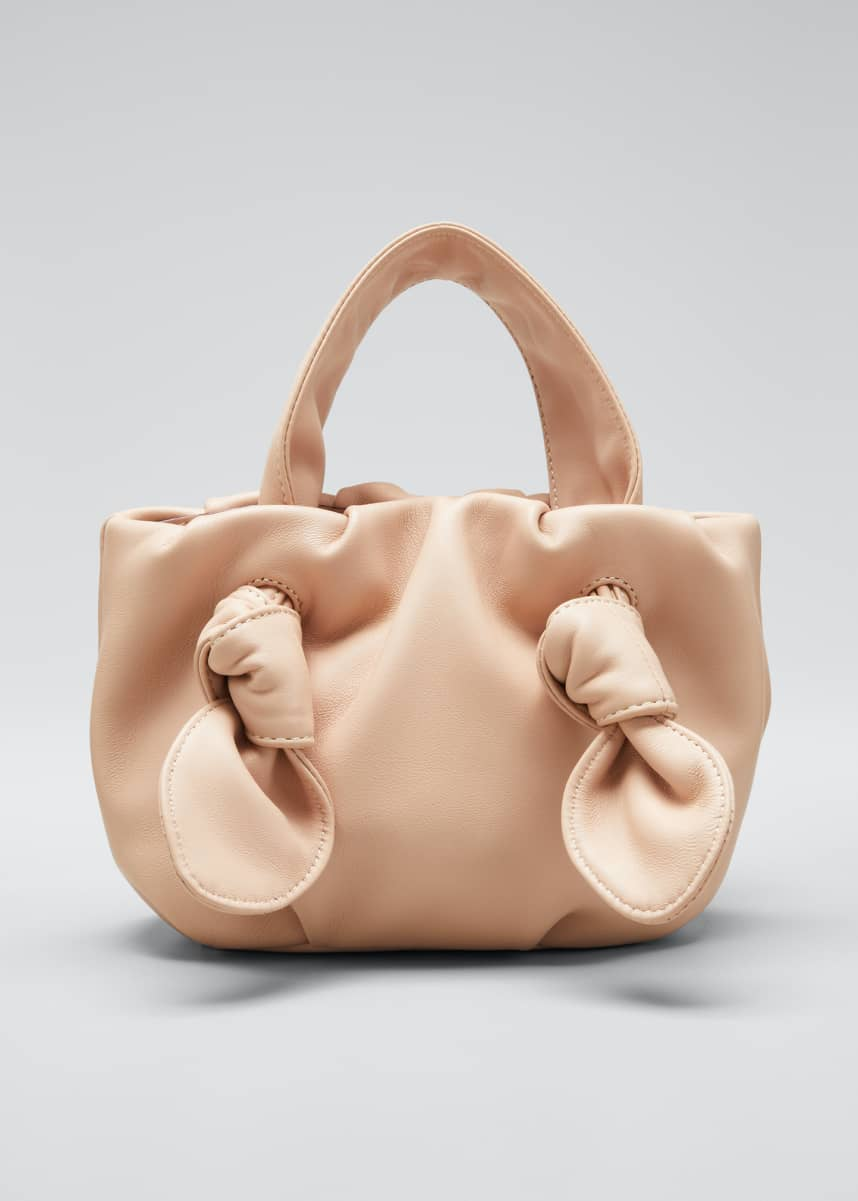 Staud Ronnie Leather Knotted Tote Bag