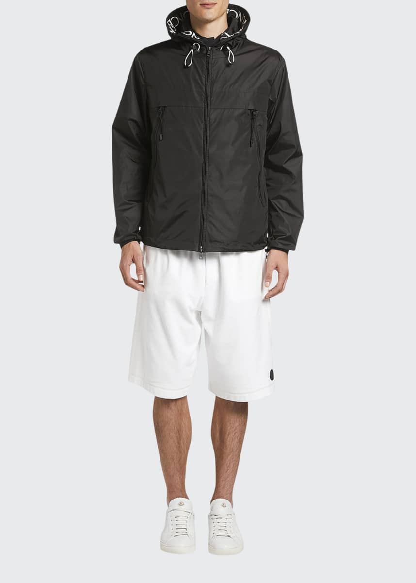 Moncler Men's Massereau Logo-Trim Wind-Resistant Jacket