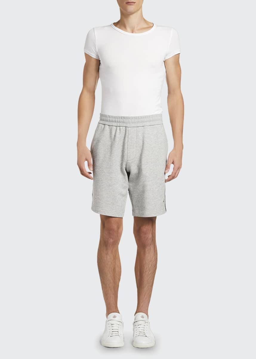 Moncler Men's Reflective Flag Sweat Shorts