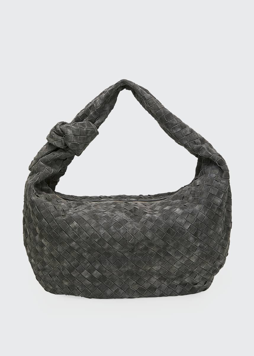 Bottega Veneta BV Jodi Large Intrecciato Suede Hobo Bag