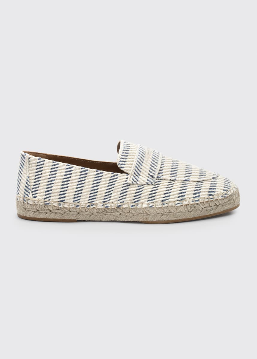Bougeotte Striped Tweed Espadrille Loafers