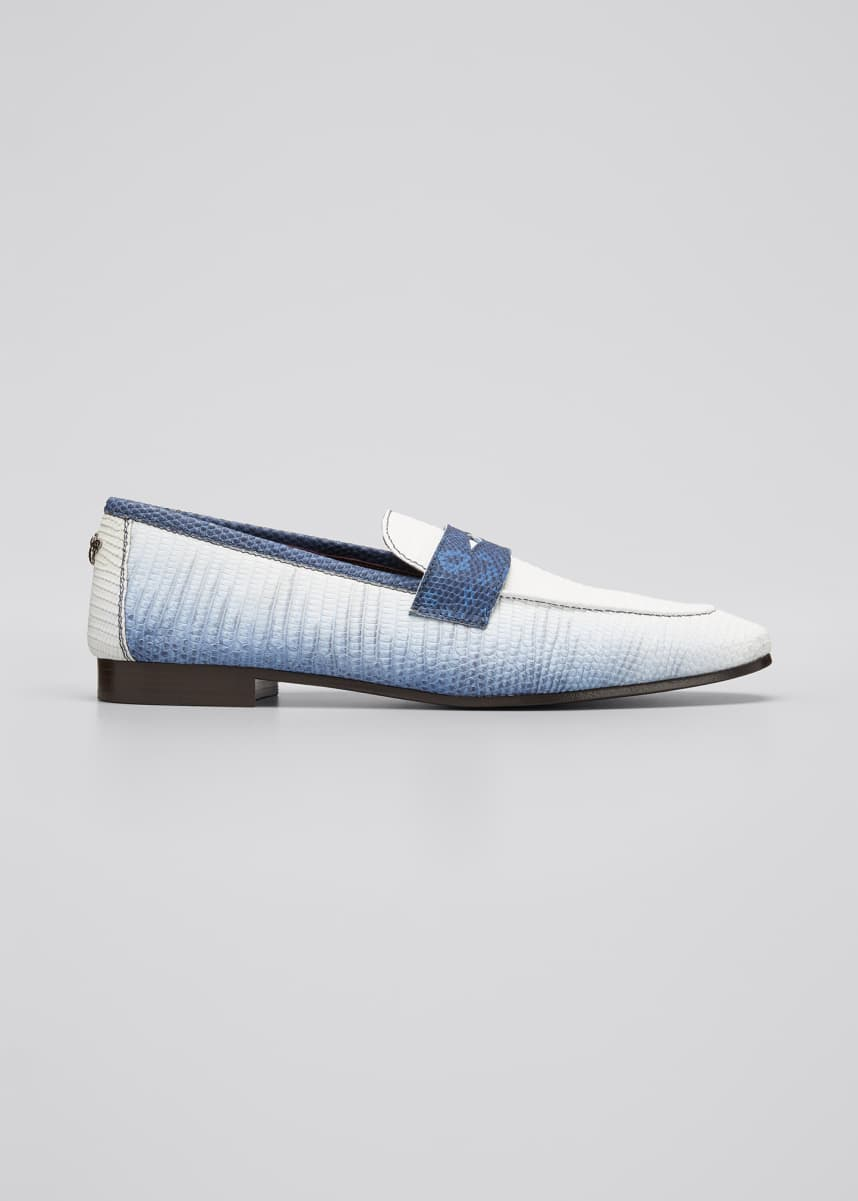 Bougeotte Ombre Lizard Penny Loafer