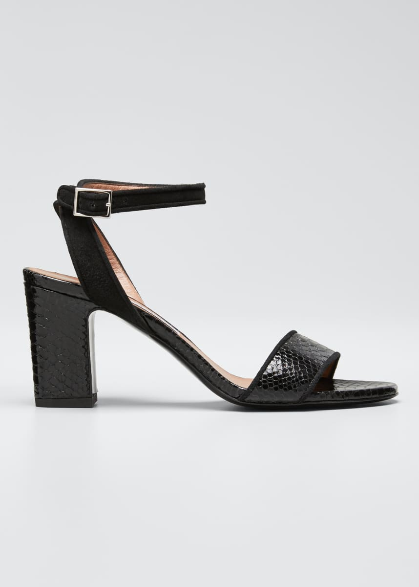 Tabitha Simmons Leticia Snake-Print Sandals