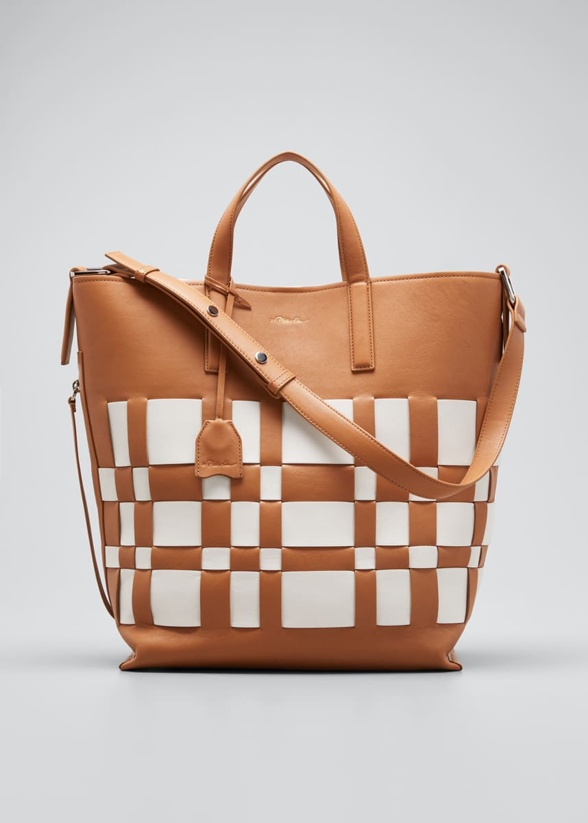 3.1 Phillip Lim Odita Lattice Leather Shopper Tote Bag