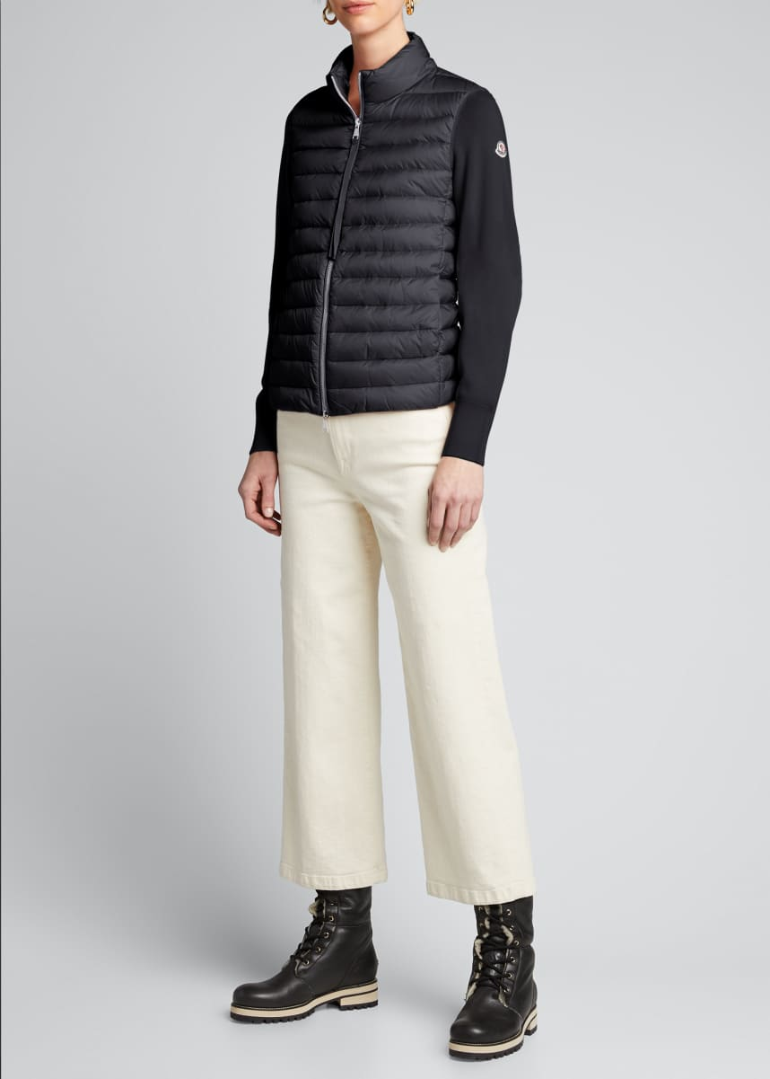 Moncler Down-Knit Combo Sweater