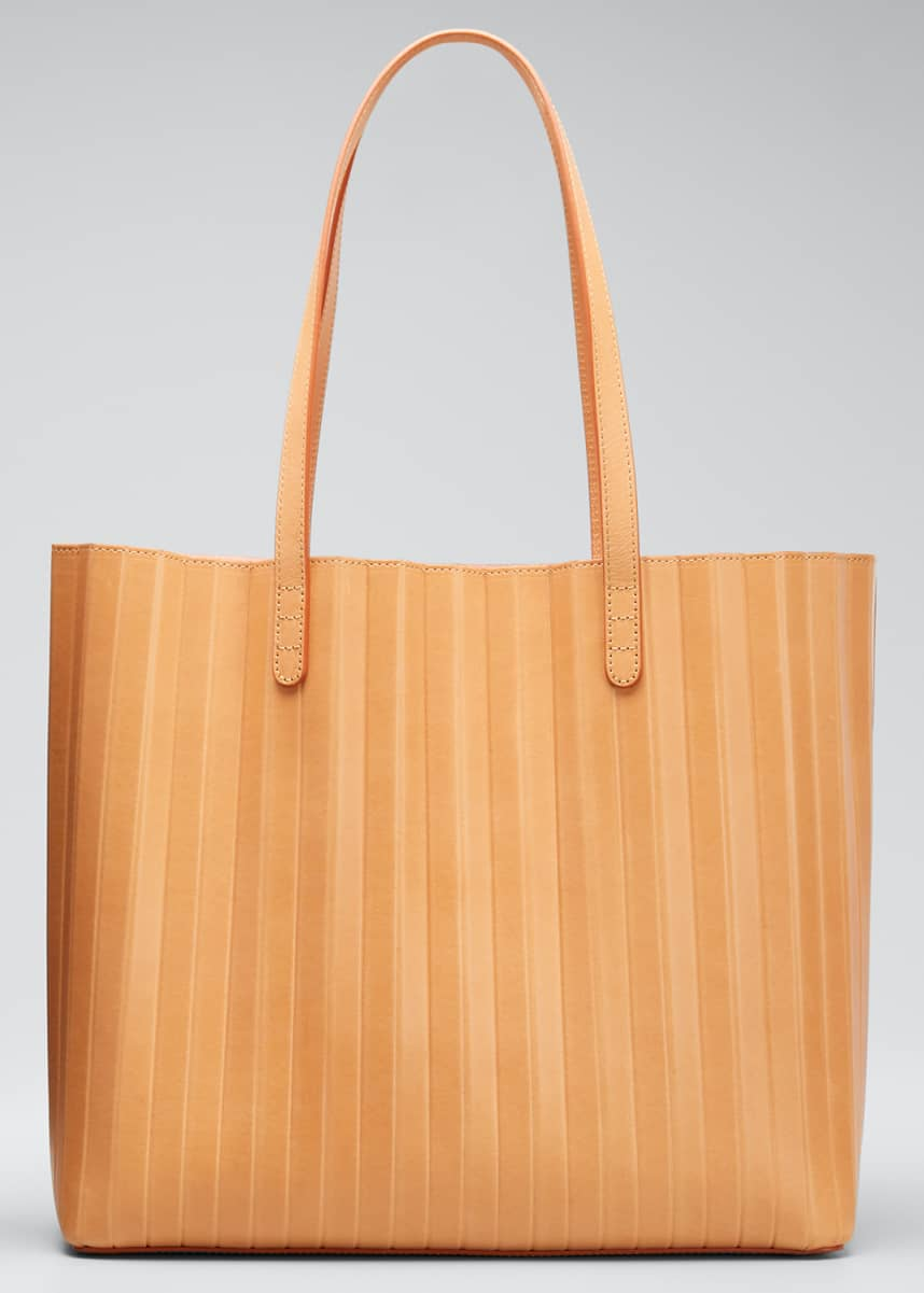 Mansur Gavriel Vegetable-Tanned Pleated Tote Bag