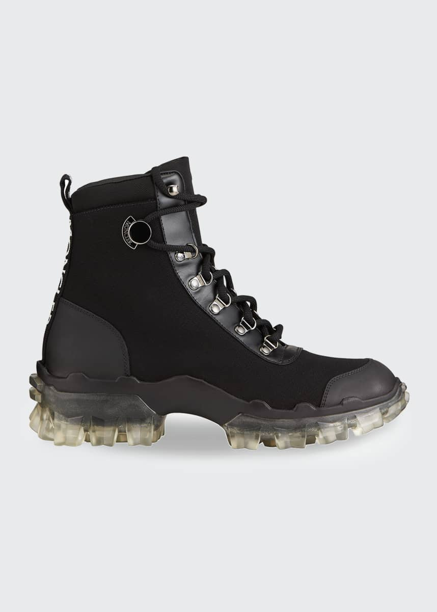 Moncler Helis Canvas Lace-Up Hiking Boots