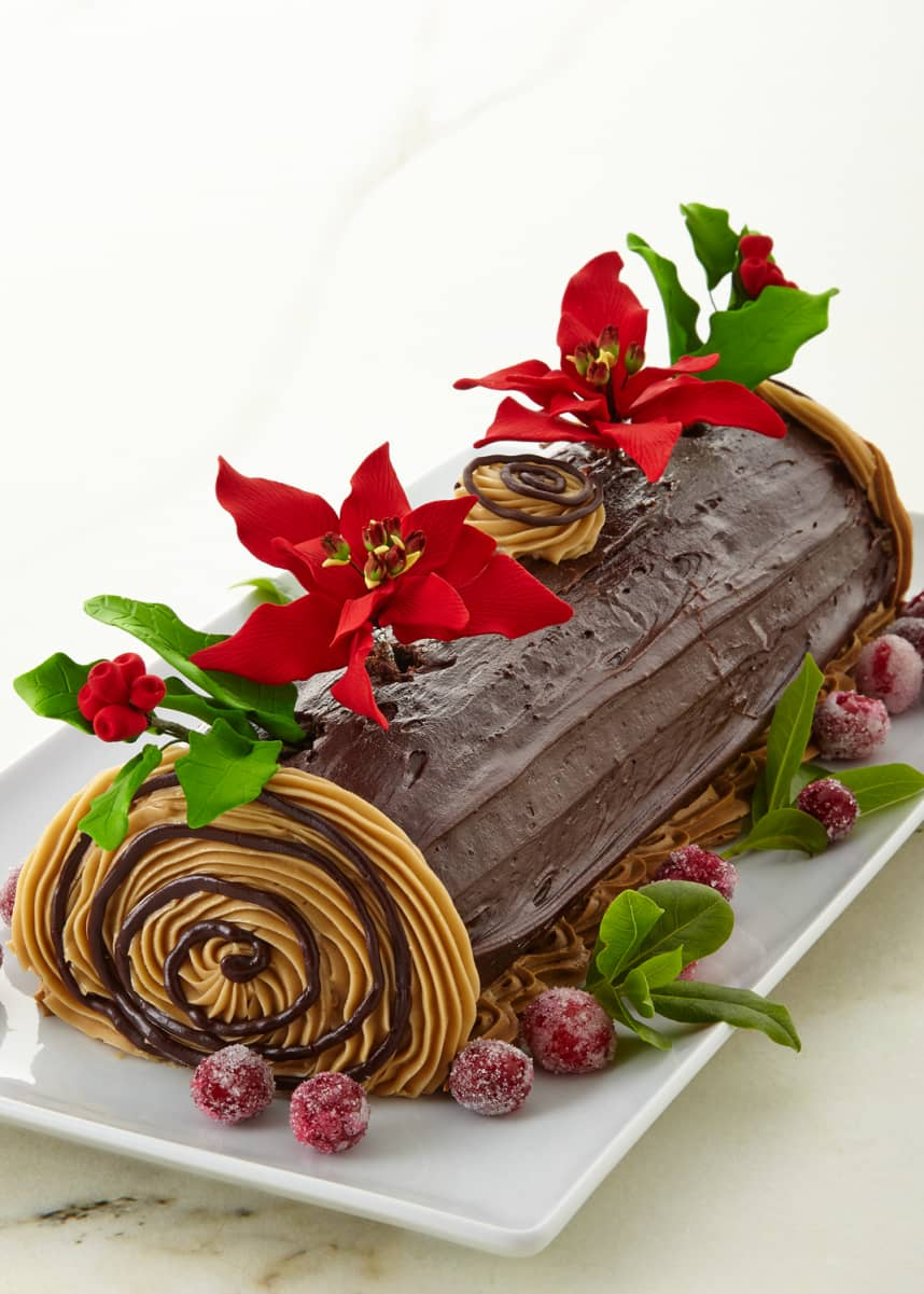 Tootie Pie Company Buche de Noel Yule Log Cake, For 12-24 People