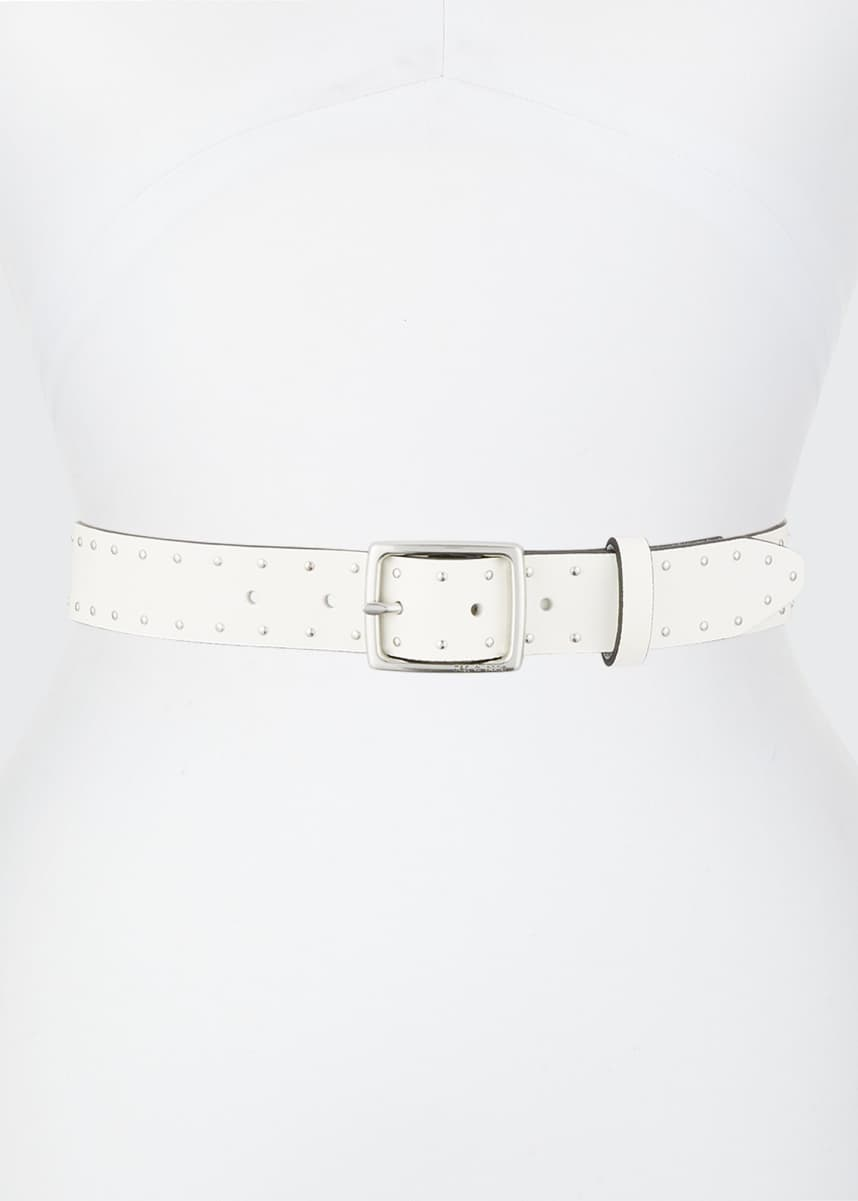 Rag & Bone Boyfriend Studded Leather Belt