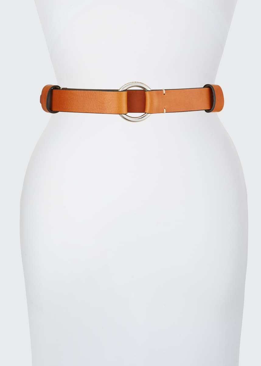 Rag & Bone Arc Leather Circle Belt