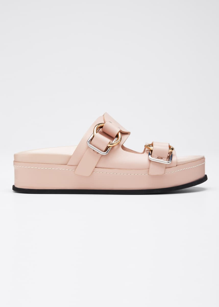 3.1 Phillip Lim Freida Platform Double-Buckle Sandals