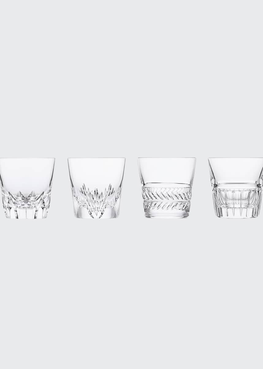 Saint Louis Crystal Versailles King Louis Double Old Fashioned Glasses, Set of 4