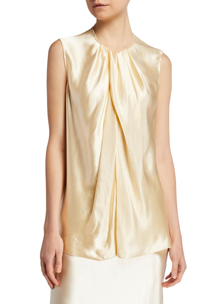THE ROW Shira Hammered Jersey Top