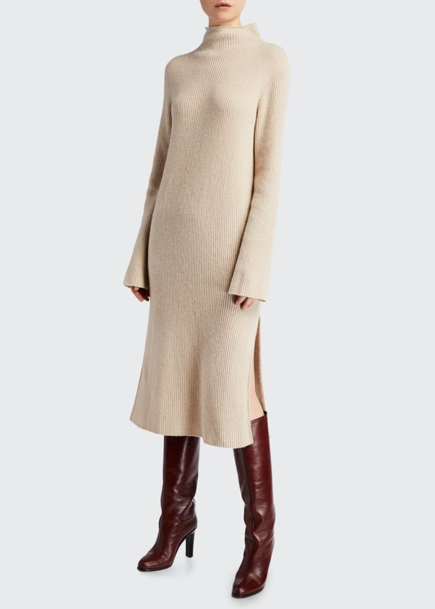 THE ROW Moa Wool-Cashmere Sweater Dress