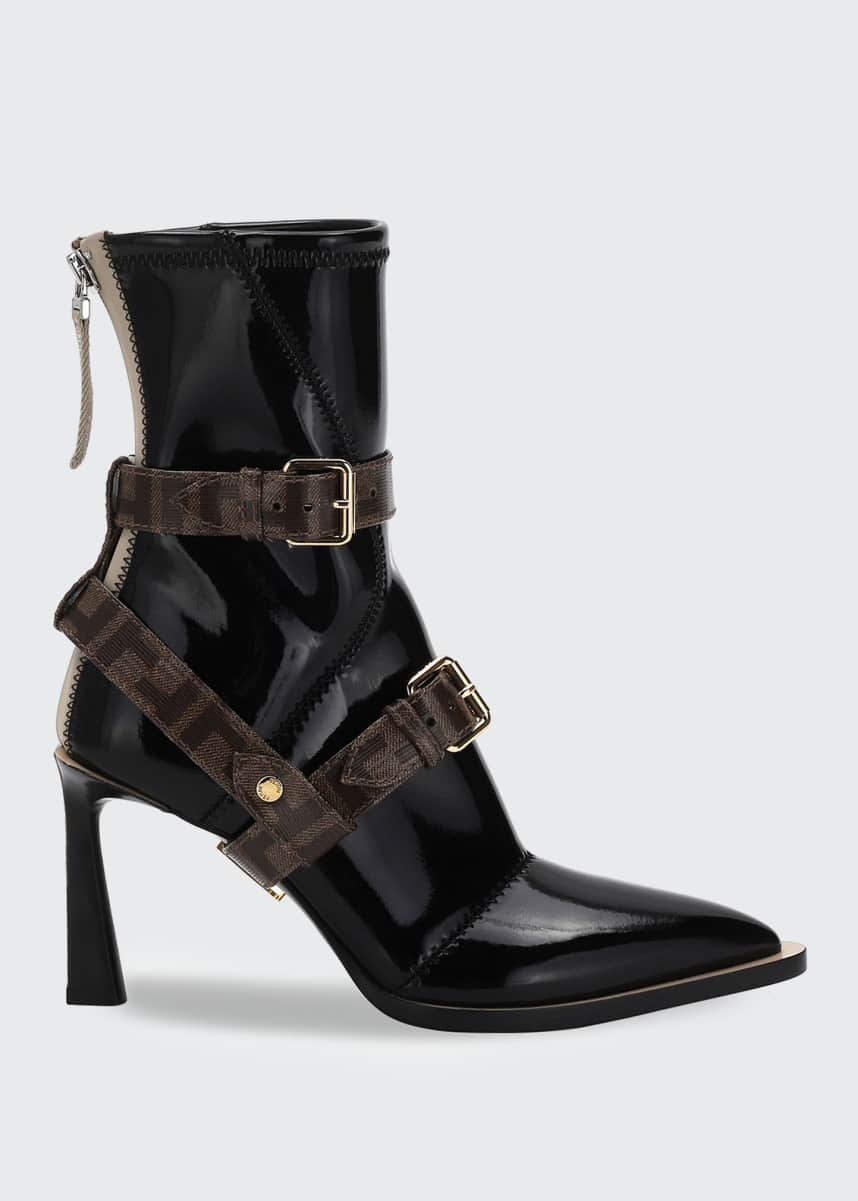 Fendi Neoprene Booties with FF Harness