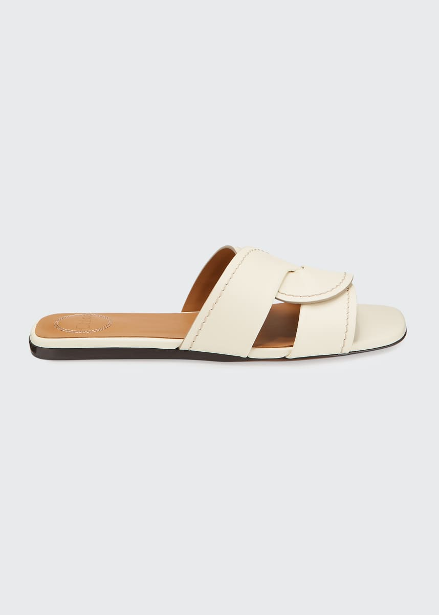 Chloe Candice Flat Twist Slide Sandals