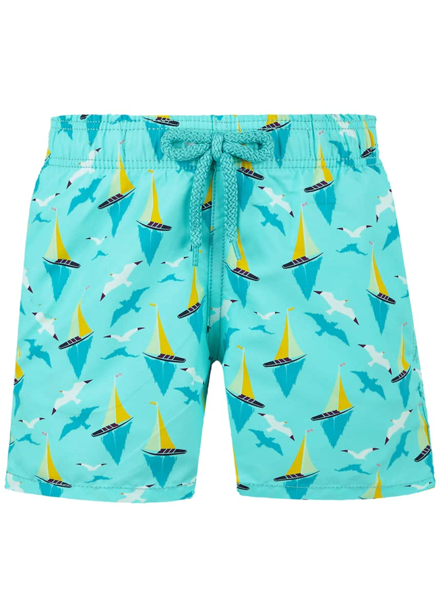 Vilebrequin Boy's Jim Printed Swim Trunks, Size 2-14