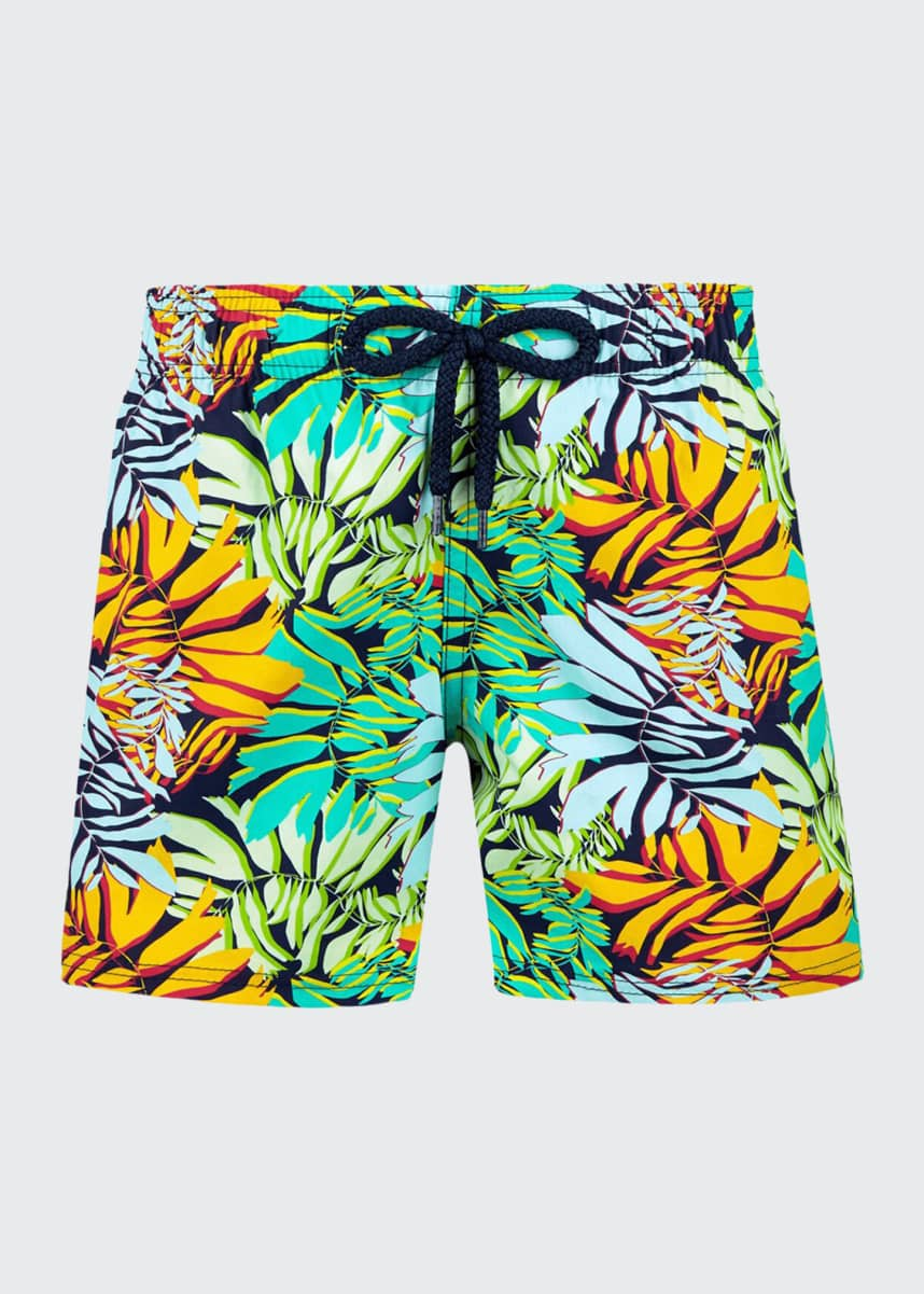 Vilebrequin Boy's Jim Jungle Printed Superflex Swim Trunks, Size 2-14