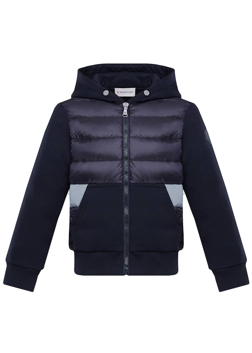 Moncler Boy's Puff Front Hooded Jacket, Size 8-14