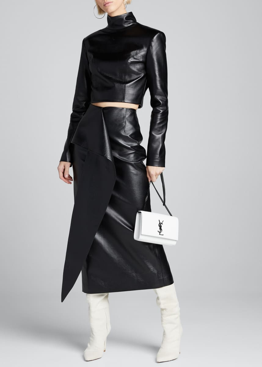 Materiel Tie-Waist Faux-Leather Skirt