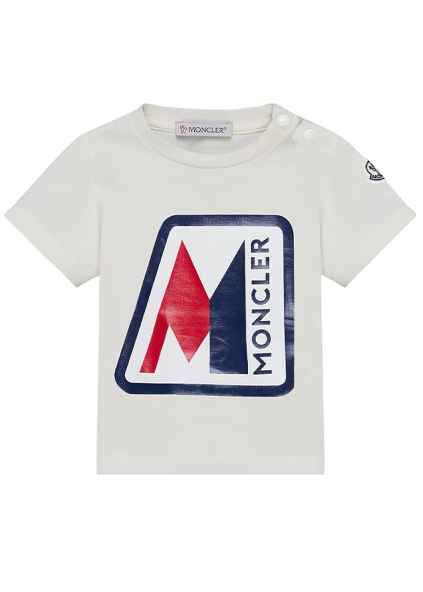 Moncler Short-Sleeve Logo Graphic T-Shirt, Size 6 months-3