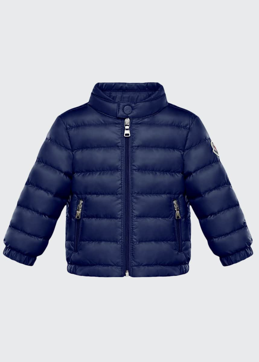 Moncler Kid's Acorus Stand Collar Quilted Jacket, Size 9M-3