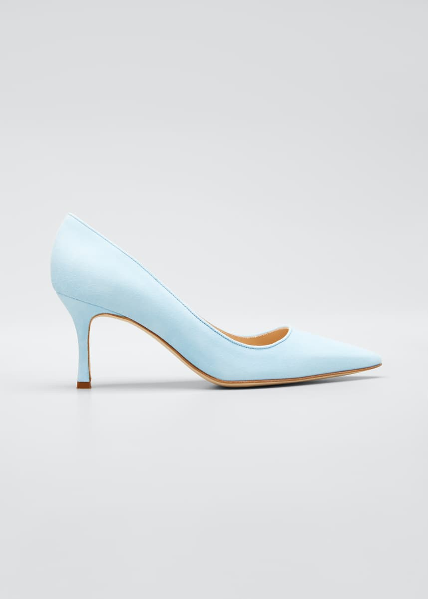 Manolo Blahnik Suede 70mm Pumps