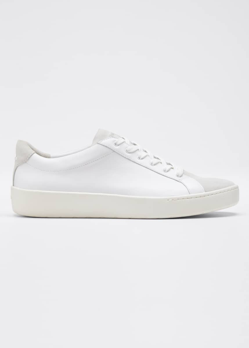 Vince Janna Mixed Leather Low-Top Sneakers