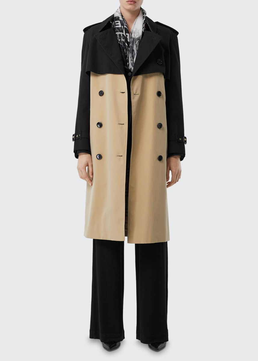 Burberry Deighton Two-Tone Trench Coat