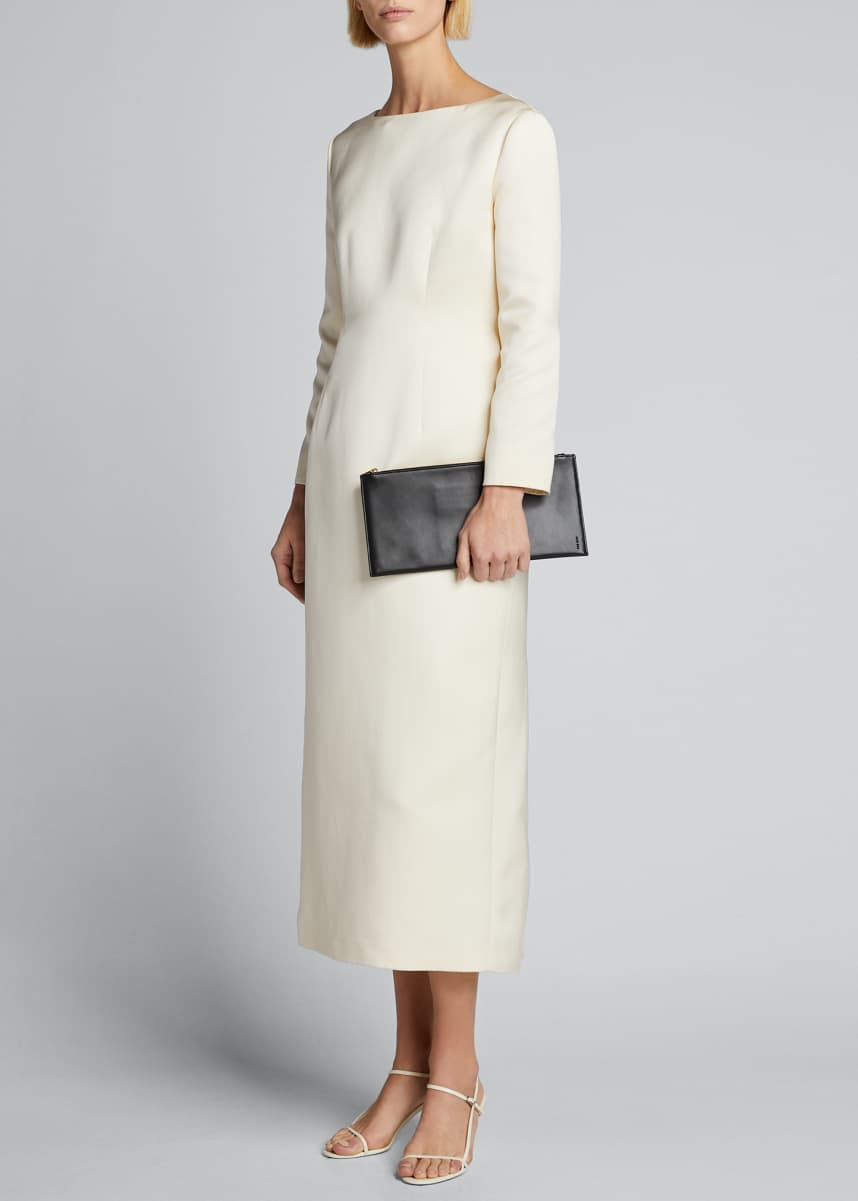 THE ROW Anke Long-Sleeve Midi Dress