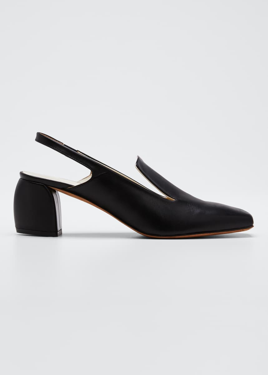 Tibi Evon Slingback Leather Pumps